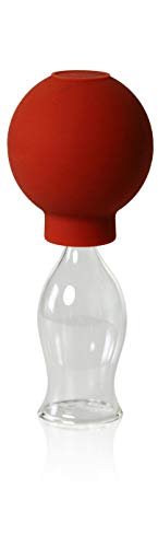 Schröpfgläser mit Ball 20mm zum professionellen, medizinschen, feuerlosen Schröpfen, Schröpfglas, Schröpfgläser, Lauschaer Glas das Original