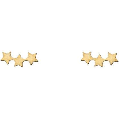 Timi of Sweden | Drei-Sterne-Ohrringe | Gold