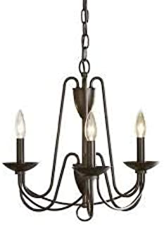 Wintonburg 3-Light Aged Bronze French Country/Cottage Candle Chandelier