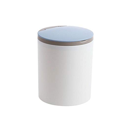 Desktop trash can miniclamshell home office small bedside bedroom home office supplies trash storage tank trash can-Light_Grey