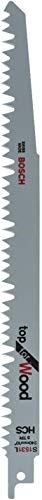 Bosch Professional 5 hojas de sierra sable S 1531 L Top for Wood (madera, 240 x 19 x 1,5 mm, dientes, accesorios de sierra sable)