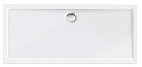 'aquaSu® Acryl-Brausewanne Teso XXL | 170 x 75 x 2,5 cm | Duschwanne | Dusche | Acrylwanne | Acrylwanne | Brause