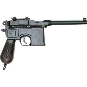 Denix Pistola Alemana Mauser Cal 4,63 1896 Réplica de Arma Falsa de Airsoft, Unisex Adulto, Negro, Un tamaño