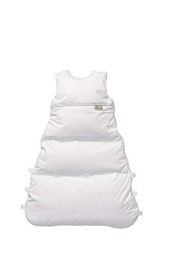 Set ARO Artländer Daunenschlafsack mit Stoffwindel von Kinderhaus Blaubär/Winterschlafsack längenverstellbar/Baby-Schlafsack mit Premiumdaunen, Größe:80 (70/60), Design:Honigwabe