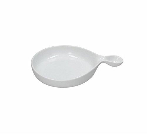 Plateau de service en porcelaine collection Gourmet rond 28x20 cm de TOGNANA