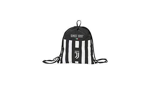Seven Easy Bag Juventus Coaches, Bianco & Nero, Sacca Sport & Tempo Libero, 21 cm