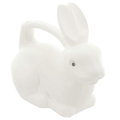 MIK Funshopping Gießkanne aus Kunststoff im lustigen Tier-Design, Volumen 1,5 Liter (Hase weiß)