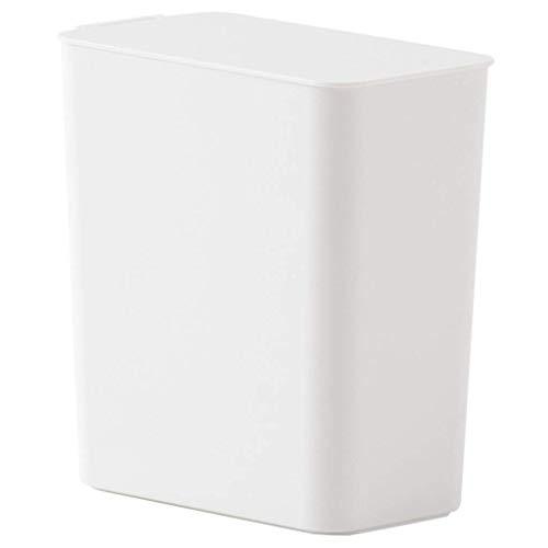 Recámara Cubo de basura Escritorio Mini oficina Hogar Bote de basura, Dormitorio Cubo de basura Baño Cubo de basura Barril de papel pequeño Blanco 1.5L Sala de estar, interior, exterior, cocina, dormi