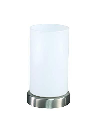 Action 830701649170 Loft Lampe de table à 1 ampoule E14 4 W 3000 K 320 lm Nickel mat Hauteur 17,5 cm Diamètre 10 cm