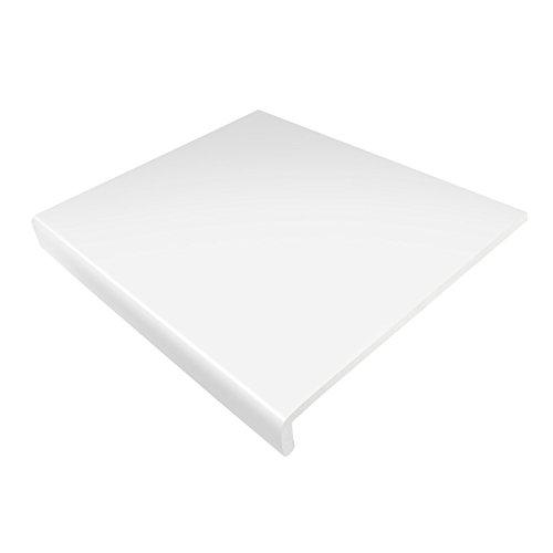 Fensterbrett-Verkleidung / Fenstersims-Abdeckung, weiß, 250mm breit, 1,25m lang, 9mm dick, Hart-PVC-Kunststoffabdeckung für Fensterbank