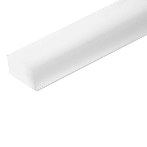 """UHMW Precision Milled Bar 3/4"""" X 3/8"""" X 48"""" For Jigs, Fixtures or Miter Slots (size 3/4"""" x 3/8""""). Slick Durable Material Slides with Ease. Ideal for Table Saws, Router Table and Bandsaws (1 UHMW Bars)"""