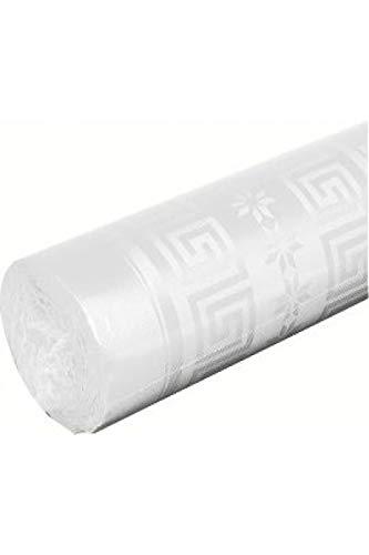 Rouleau nappe papier damasse deperlant 25 métres Blanc