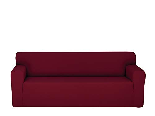 Chiara Rose Couch Covers for Dogs Sofa Cushion Slipcover 3 Seater Furniture Protectors, Sofa, Burgundy