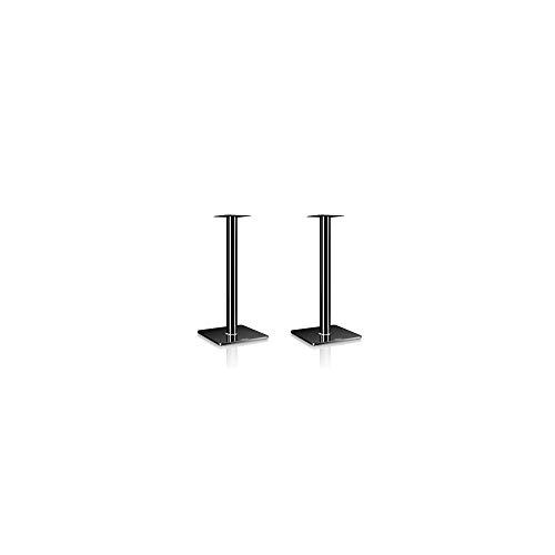 Nubert BS-652 Boxenstativpaar | Stative für Kompaktlautsprecher von Nubert bis 10 kg | Höhe 65 cm | Echtglasständer | Lautsprecheruntersatz aus Aluminium | Original Nubert Zubehör | Schwarz | 2 Stück