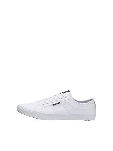 JACK & JONES Herren Sneaker Canvas 43Bright White