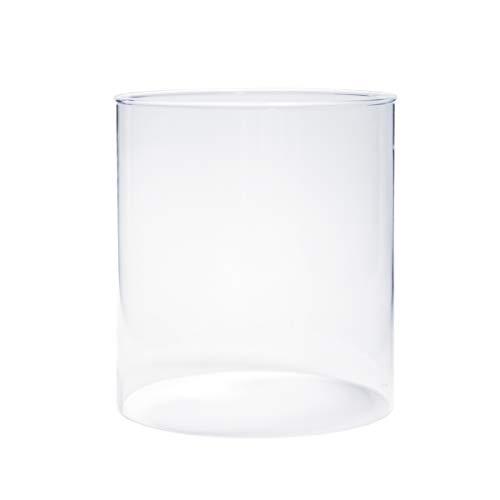Varia Living Glaszylinder ohne Boden für Windlicht Verschiedene Größen verfügbar Ersatzglas | für draußen und innen | offenes Glasrohr groß | transparent (Ø 14,5 cm/H 16 cm)