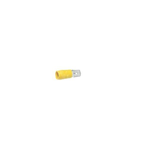 Elpress 400100133 voorgeïsoleerde stopcontact, lipje, 4-6 delen van de ladder, 6,3 x 0,8 mm, afmetingen van de stekker, geel, 100 stuks
