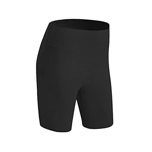 BUXIANGGAN Shorts Pantalones Cortos Mujer Shorts Deportivos De Secado Rápido para Mujer, Pantalones De Yoga Y Running para Adelgazar-Negro_S