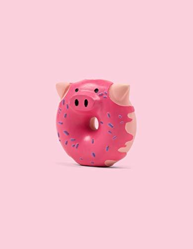United Pets Pigs - Donut Gioco per Cani a Forma di Ciambella Maiale, di Design, Gioco in Lattice per Cani, da Mordere, Rosa