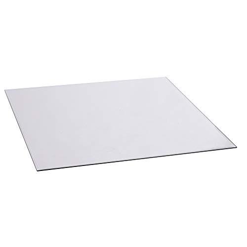 FIREFIX 1950/5 Glasbodenplatte (Hitzeschutz Ofen), Quadrat-Bodenplatte (1.200 x 1.200 mm), 8 mm Starkes Klarglas (Sicherheitsglas ESG) mit Facettenschliff (20 mm, umlaufend), Transparent