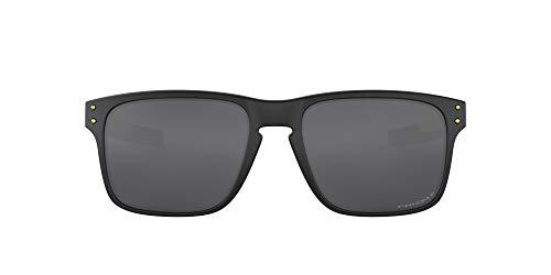 Oakley Los hombres del hombre de gafas de sol polarizadas de plástico rectangular Iridium, Negro mate