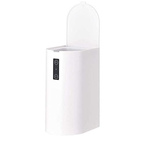 Bote de Basura de Escritorio de 1 Pieza, papeleras de Basura, Caja de Almacenamiento, Accesorios de Oficina y Cocina para el hogar a/blanco/13.5x10.5x21cm