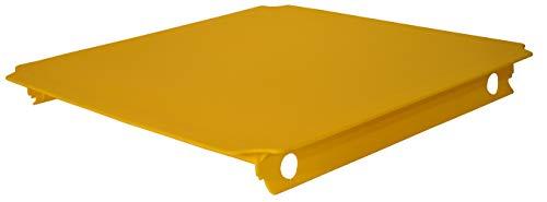 TikTakToo Moveandstic Platte 40x40 40x20 Stoffeinsatz Stoffplatten zur Auswahl in vielen Varianten zm Erweitern von Move and stic Klettertürmen, Spiellandschaften, Bällebad, Rutschen, Kleinkind Modellen, Krabbel und Klettern im Spielzimmer für Drinnen und Draußen (40x40cm, gelb)