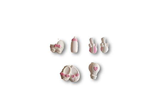 gessetti profumati nascita con decorazioni rosa lotto 50 pezzi