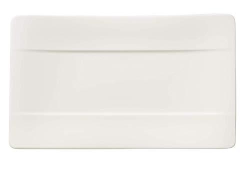 "24cm x 14cm Sushi-Teller ""Modern Grace"" aus Premium Bone Porzellan in Uni-Weiß"