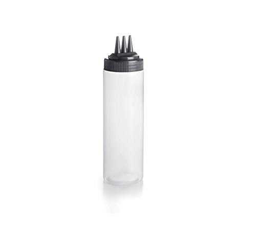 Lacor Knijpfles met drievoudig mondstuk, wit, 7 x 7 x 26 cm