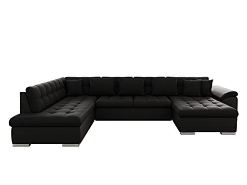 Mirjan24 Eckcouch Ecksofa Niko! Design Sofa Couch! mit Schlaffunktion! U-Sofa Große Farbauswahl! Wohnlandschaft! (Ecksofa Rechts, Soft 011 + Porto 36)