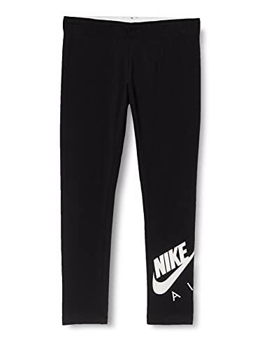 Nike Air Favorites, Leggings Bambino, Schwarz-Weiss, L
