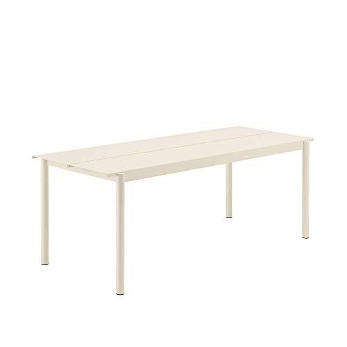 Muuto Linear Steel Table / 140 X 75Cm / 55.1 X 29.5 White - 140Cm / 55,1
