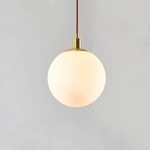 SHENGLLA Colgante de Techo Shade Light Shade Nordic Modern Ball Clase de araña Dormitorio Casa de baño Casa de Noche Colgando Luz de Lámpara Lámpara de Bola Redonda,25cm