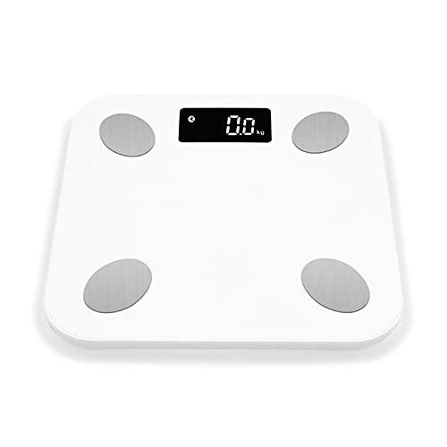 HKJZ SFLRW Bluetooth Smart Bathroom Scales para el Peso Corporal Escala de Grasa Corporal Digital, Monitor automático Peso Corporal, Grasa, BMI, Agua, BMR, Escala de Salud de la Aptitud