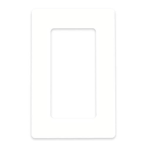 in-outdoorshop Tapetenschutz Tapetenschoner Dekorrahmen Wandschutz Rahmen Blende für Lichtschalter und Steckdose (weiß glänzend, 2-fach)