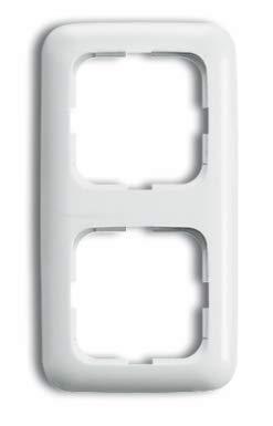 Busch Jäger Reflex SI alpinweiss Steckdosen Schalter Rahmen Wippen (2512-214 Abdeckrahmen 2-fach Rahmen Reflex SI, 1 Stück)