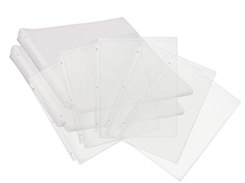 1InTheOffice Sheet Protectors, Clear Sheet Protectors for 3 Ring Binder, Top Load Sheet Protectors 8.5 x 11,Non-Glare, Clear, 50/Pack