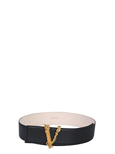 Luxury Fashion | Versace Dames DCDH223DV3TK41OT Zwart Leer Riemen | Seizoen Permanent