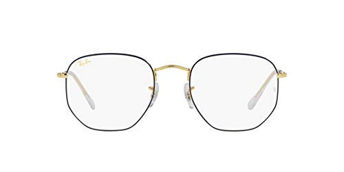 Ray-Ban 0RX6448 Gafas, BLUE ON LEGEND GOLD, 48 Unisex Adulto