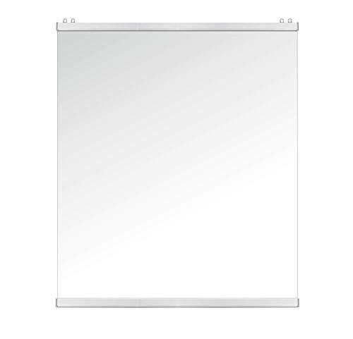 KLEMP Spuckschutz Hustenschutz Abgehängte Abdeckung mit durchsichtiger transparente Folie mit Riegellamellen (120x120 cm)