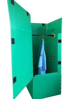引越・保管用プラスチックハンガーボックス(グリーン)1枚 ※個人様宅は配送不可です