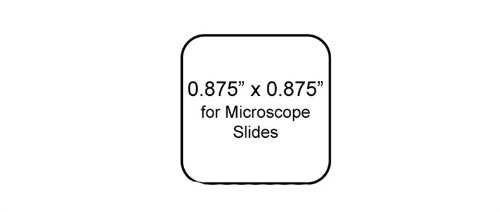 WetGrip Microscope Slide Laser Printer Labels, Slides 0.875 x 0.875 Inches, 2400 per Package