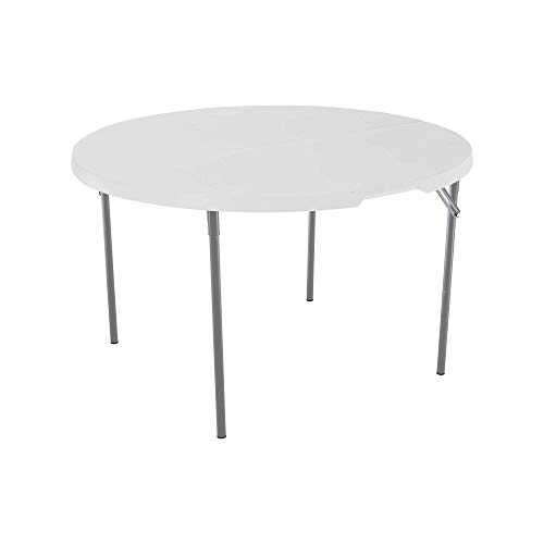 Lifetime 80809 Round Fold in Half Table, Almond