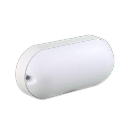 JANDEI - Applique LED 1650 lumen 15 W plafoniera bianco luce bianca fredda 6000 K (SEMI Oval)