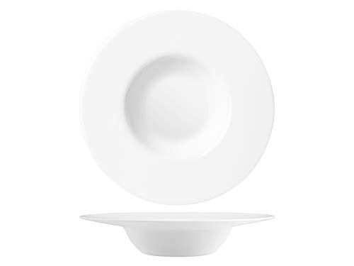 Bormioli Rocco 767105 - Plato llano arroz, ópalo, blanco, 27 cm, cristal