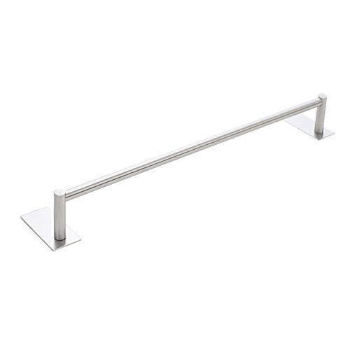 litulituhallo Self Adhesive Towel Bar Single Racks Stick On Bathroom Steel