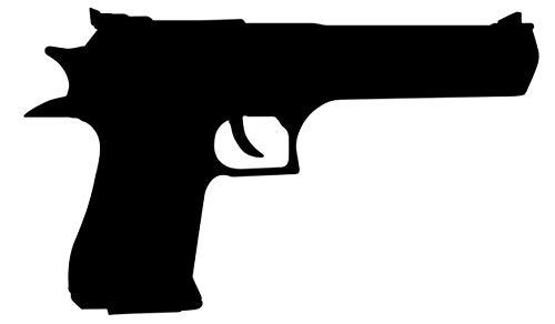 Desert Eagle Pistol Decal - (Black) 5.5' Handgun Sticker Pistol Window Decal for Windows, Cars, Trucks, toolboxes, Gun safes