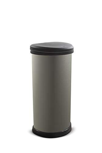 CURVER Deco Bin 40 l Mülleimer, Plastik, grau