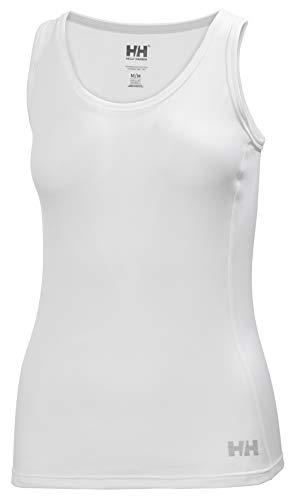 Helly Hansen W HH LIFA Active Solen Singlet Camiseta De Tirantes, Mujer, White, M
